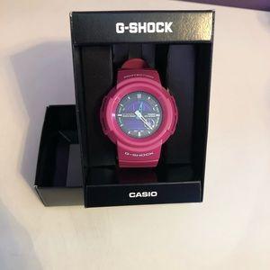 Casio G-Shock watch, pink.
